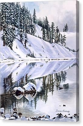 Lake Moraine Oregon Canvas Print by Sharon Freeman