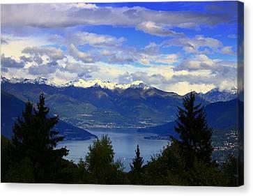 Lake Of Como View Canvas Print