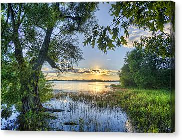 Lake Peewee At Sunset Canvas Print by Jim Pearson