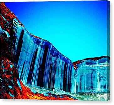 Lake Powell Blue Ice Canvas Print