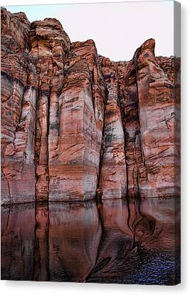 Lake Powell Water Canyon Canvas Print by Jon Berghoff