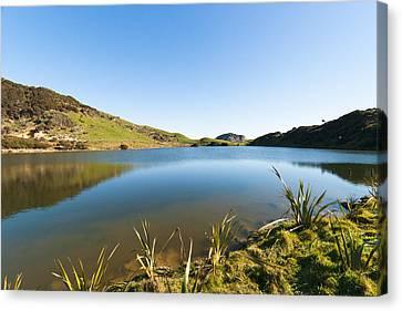 Lake Reflection Canvas Print by Graeme Knox