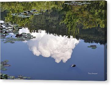 Canvas Print featuring the photograph Lake Reflection by Kay Lovingood