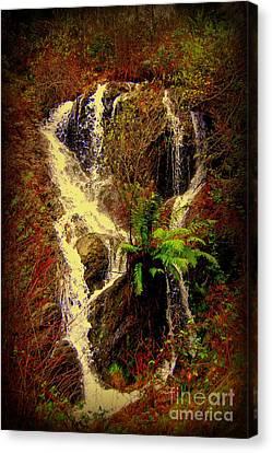 Lake Shasta Waterfall 3 Canvas Print by Garnett  Jaeger