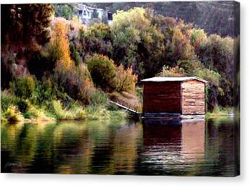 Lake Shed Canvas Print by Jim Pavelle