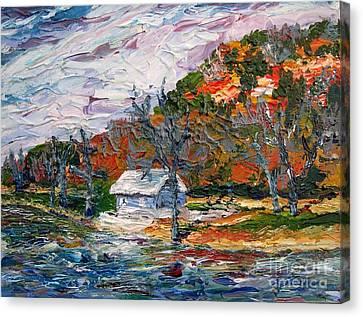 Lake Side  Canvas Print by Linda  Steine