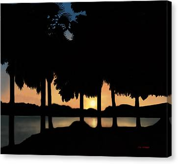Lake Sunset Canvas Print by Tim Stringer