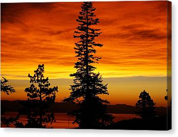 Lake Tahoe Sunset Canvas Print by Bruce Friedman