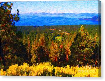 Lake Tahoe Canvas Print by Wingsdomain Art and Photography