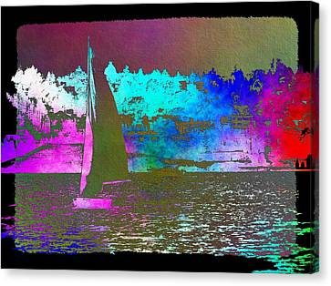 Lake Union Sail 2 Canvas Print