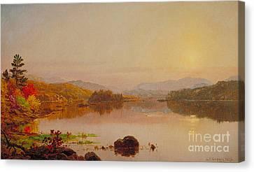 Lake Wawayanda Canvas Print by Jasper Francis Cropsey