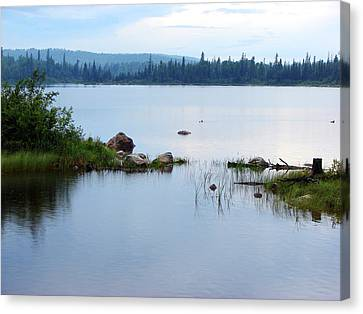 Canvas Print featuring the mixed media Lake West Of Wawa by Bruce Ritchie