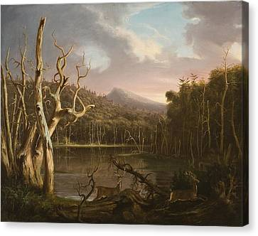 Lake With Dead Trees  Canvas Print by Thomas Cole