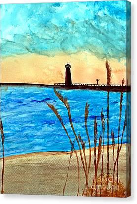 Lakeside Luxury Canvas Print