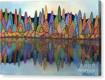 Lakeside Reflection Canvas Print by Anne Havard
