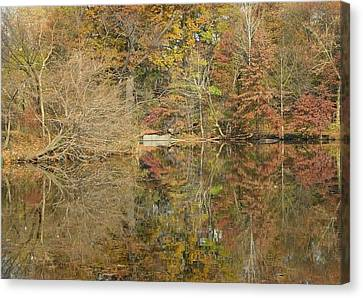 Lakeside Reflections Canvas Print by Sarah McKoy