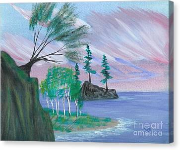 Lakeside Symphony Canvas Print by Robert Meszaros