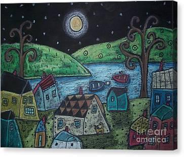 Lakeside Town Canvas Print by Karla Gerard
