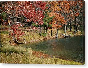 Lakeside View Canvas Print by Sarah McKoy