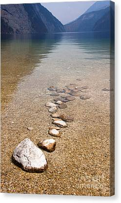 Lakestones Canvas Print by Andrew  Michael