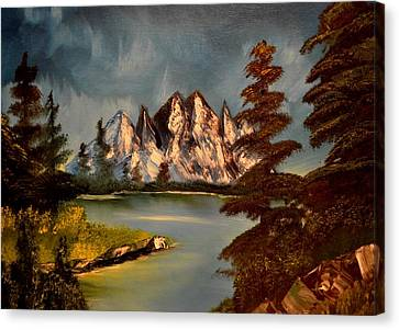 Canvas Print featuring the painting Lakeview by Maria Urso