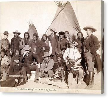 Lakota Brul�, Miniconjou, And Oglala Canvas Print by Everett