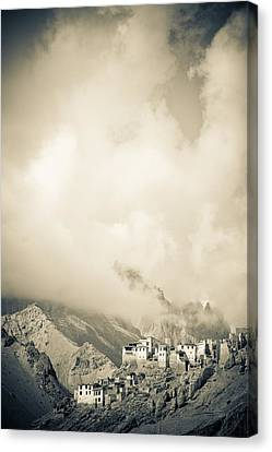 Lamayuru Monastery Sits Amid A Mountain Canvas Print by David DuChemin