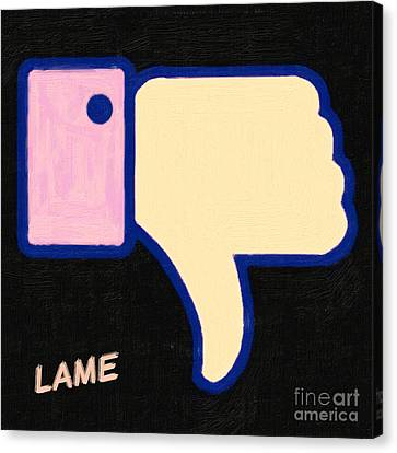 Lame . Painterly Canvas Print by Wingsdomain Art and Photography