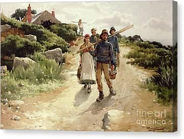 Lamorna Cove Cornwall Canvas Print by Walter Langley
