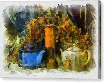 Lamp And 2 Pots Canvas Print by Dale Stillman