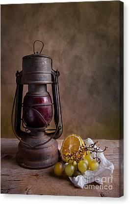 Lamp And Fruits Canvas Print by Nailia Schwarz
