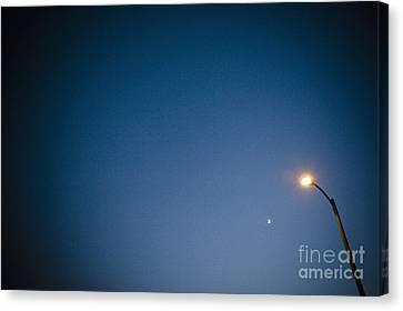 Lamppost At Dusk Canvas Print by Sam Bloomberg-rissman