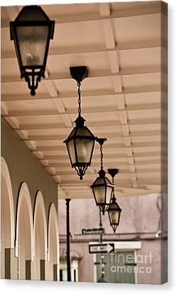 Lamps Canvas Print by Leslie Leda