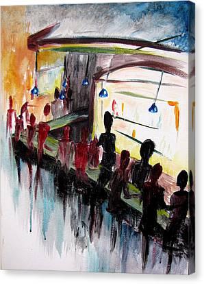 Lampys Canvas Print