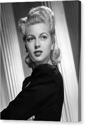 Lana Turner, Ca. 1940s Canvas Print by Everett