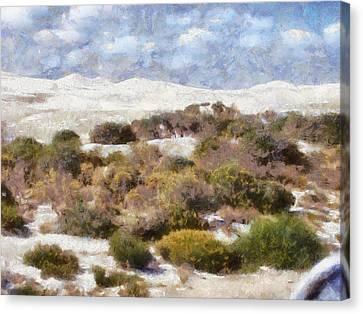 Canvas Print featuring the digital art Lancelin White Sands  by Roberto Gagliardi