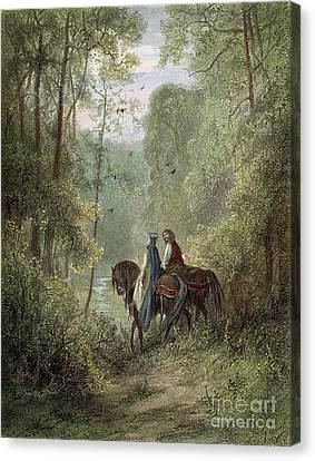 Lancelot & Guinevere Canvas Print by Granger