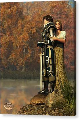 Lancelot And Guinevere Canvas Print by Daniel Eskridge