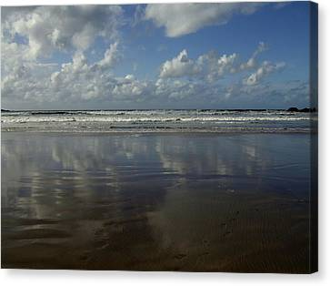 Canvas Print featuring the photograph Land Sea Sky by Lynn Hughes