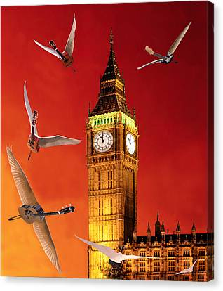 Landing In London Rocks Canvas Print by Eric Kempson
