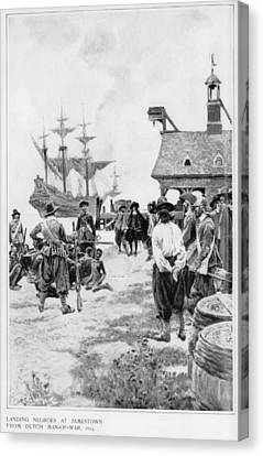 Landing Of 20 African Captives Canvas Print by Everett