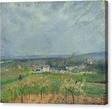 Landscape In Pontoise Canvas Print