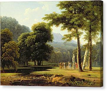 Landscape Canvas Print by Jean Victor Bertin