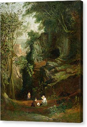 Landscape Near Clifton Canvas Print by Francis Danby