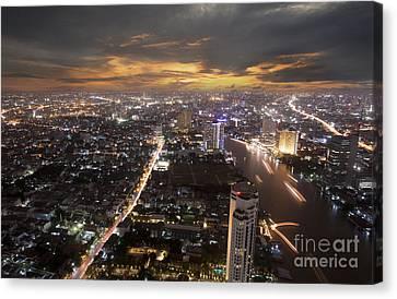 Landscape Of Bangkok Canvas Print by Anek Suwannaphoom