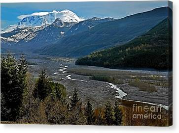 Landscape Of Mount St. Helens Volcano Washington State Art Prints Canvas Print by Valerie Garner