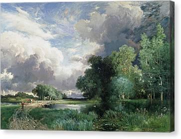 Landscape With A Bridge Canvas Print