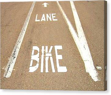 Lane Bike Canvas Print by Jenny Senra Pampin