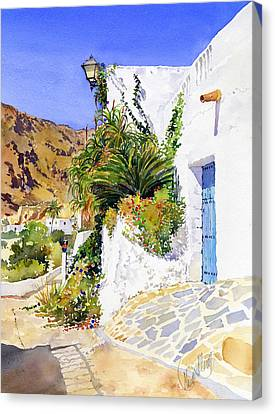 Lane In Nijar Canvas Print by Margaret Merry