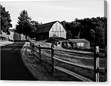 Langus Farms Black And White Canvas Print by Jim Finch